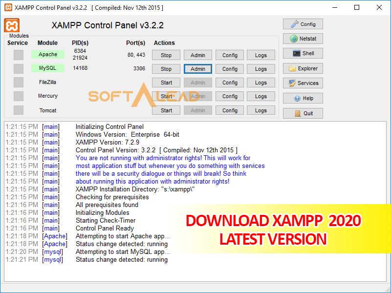 Download XAMPP 2020 Latest Version