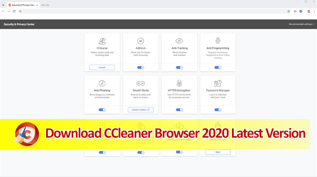 Download CCleaner Browser 2020 for Windows