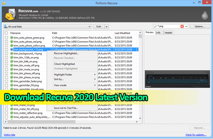 Download Recuva 2020 for Windows