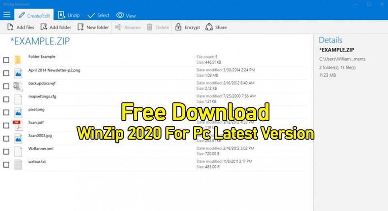 Download WinZip 2020 Latest Version