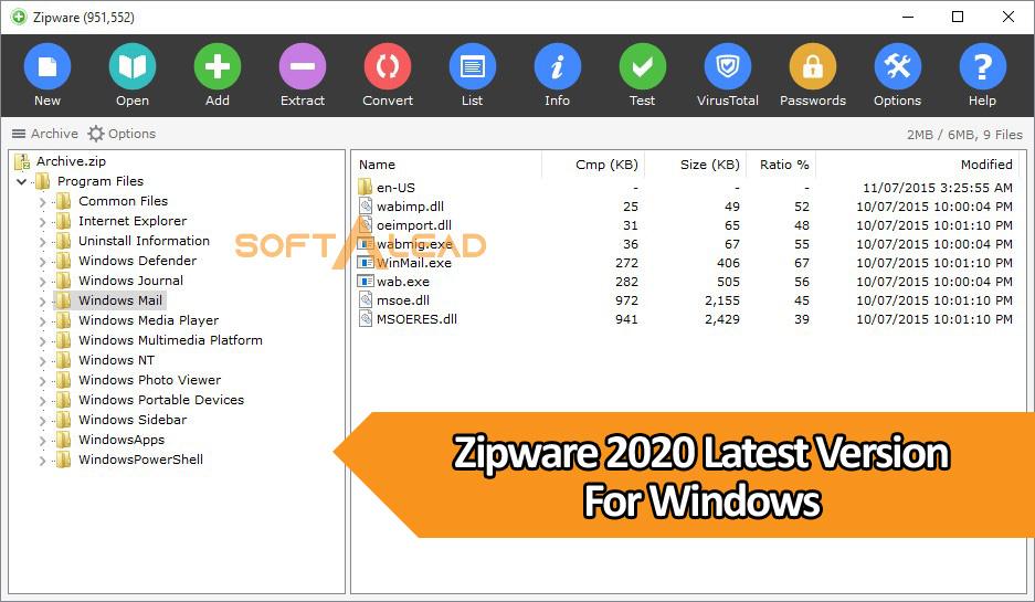 Download Zipware 2020 Latest Version