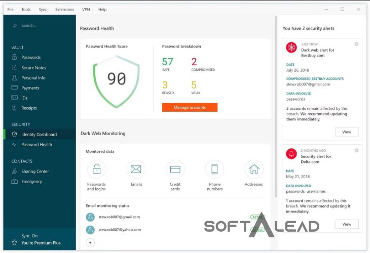 Download Dashlane 2020 for Windows
