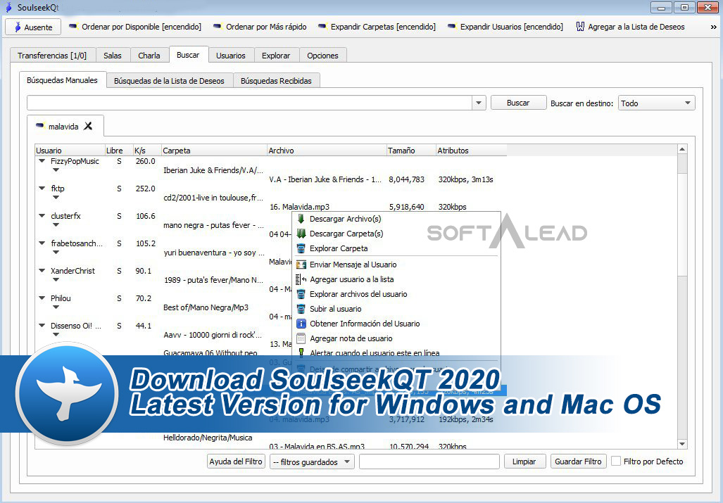 Download SoulseekQT 2020 Latest Version