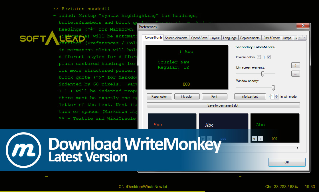 Download WriteMonkey 2020 Latest Version