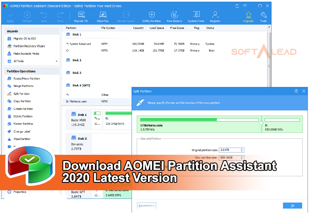 Download AOMEI Partition Assistant 2021 Latest Version