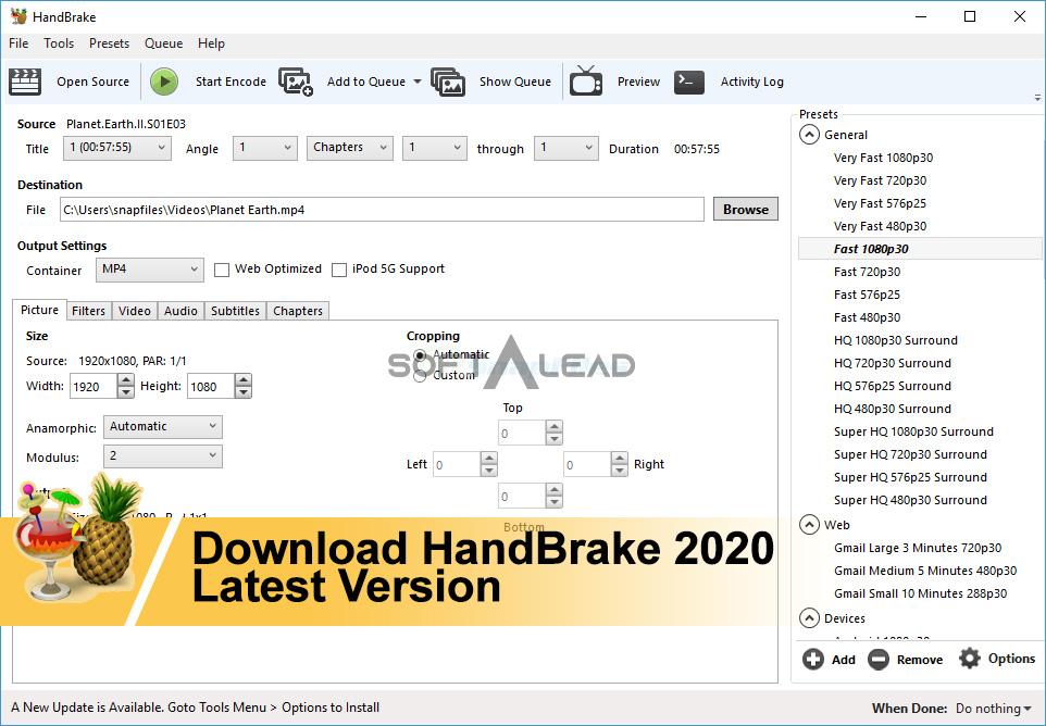 Download HandBrake 2021 Latest Version