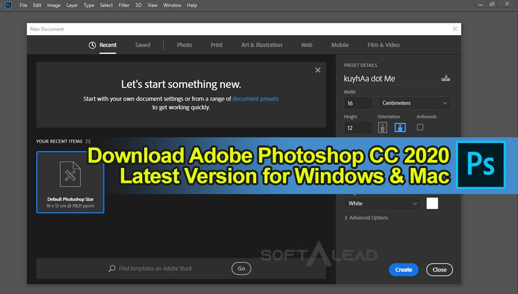Download Adobe Photoshop CC 2020 Latest Version