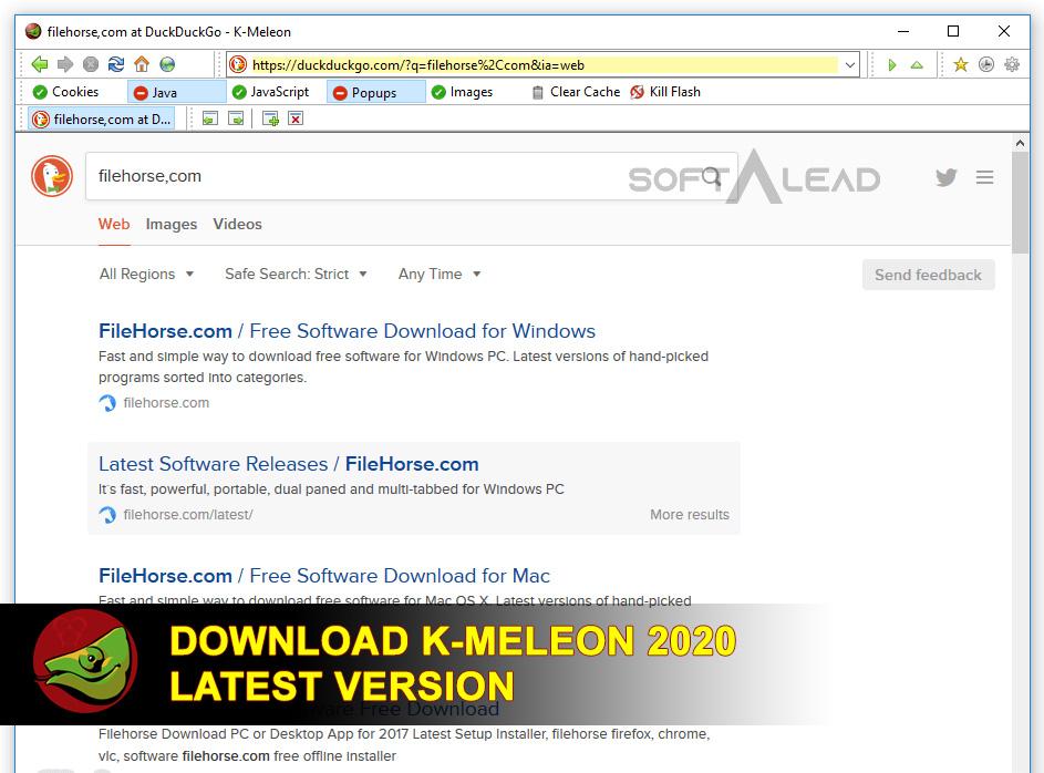 Download K-Meleon 2020 Latest Version
