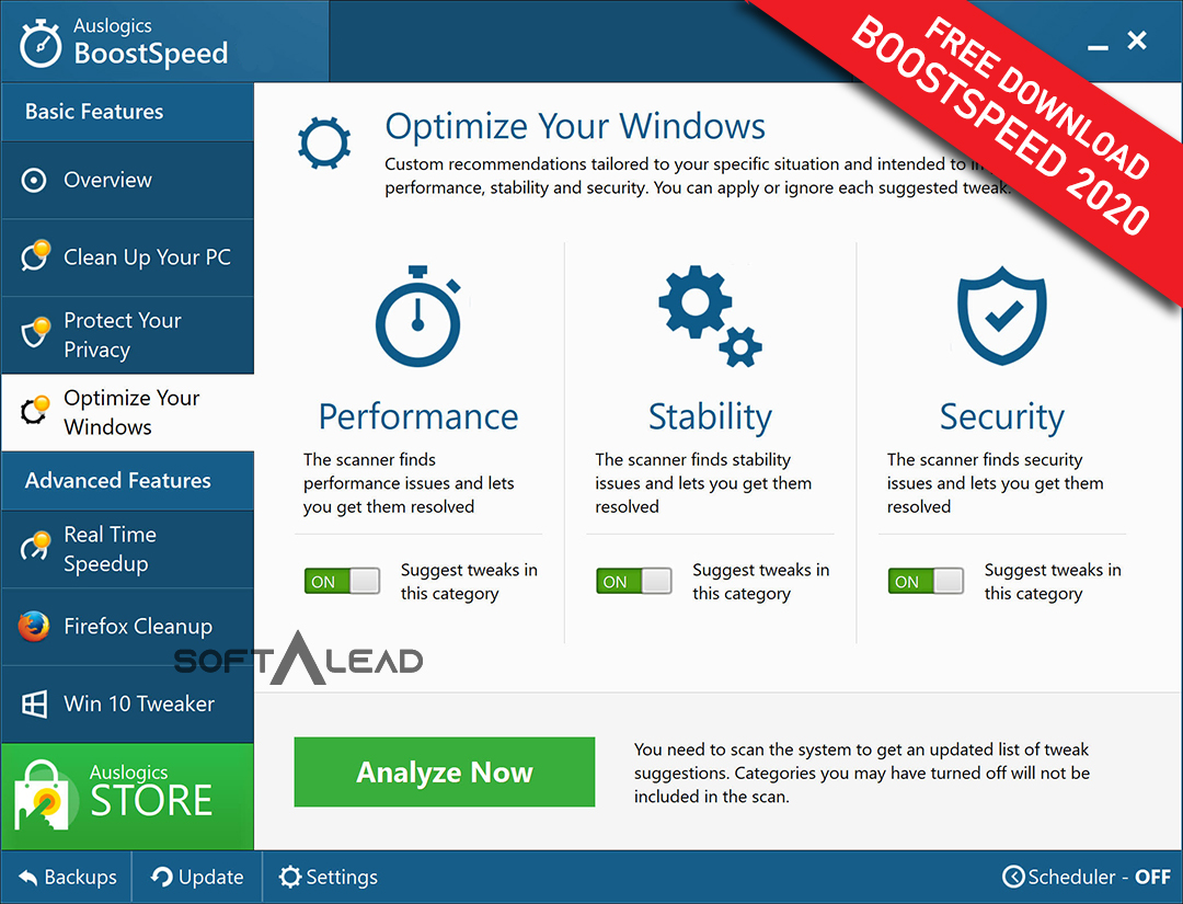 Download Auslogics Boostspeed 2020 Latest Version