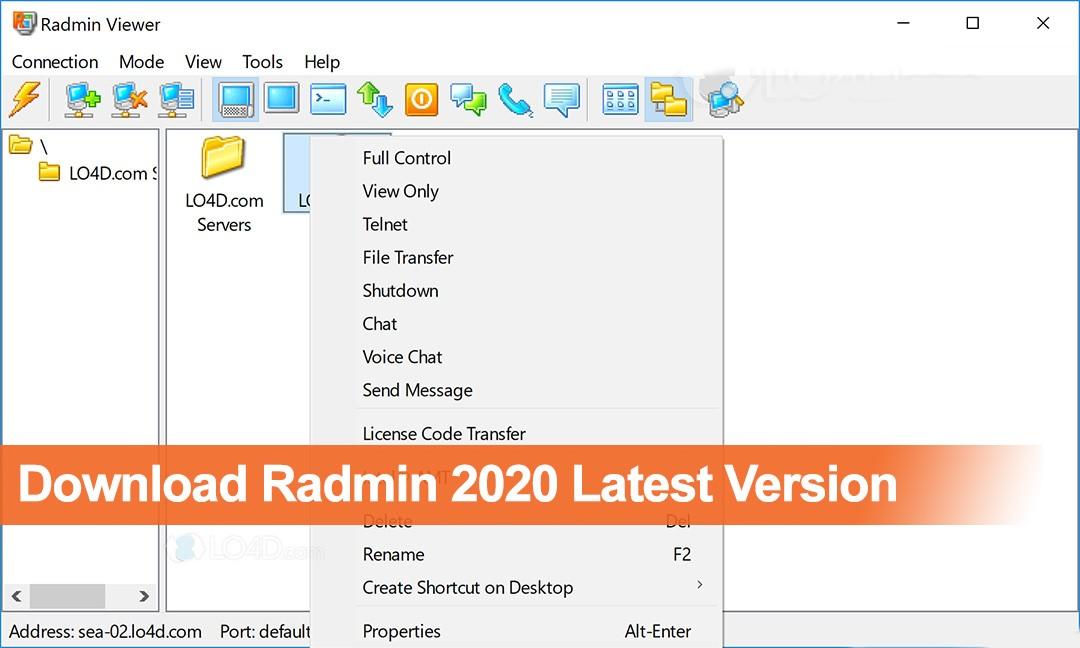 Download Radmin 2020 Latest Version