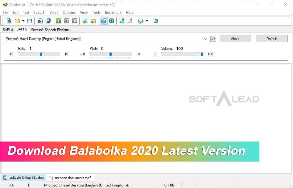 Download Balabolka 2021 Latest Version