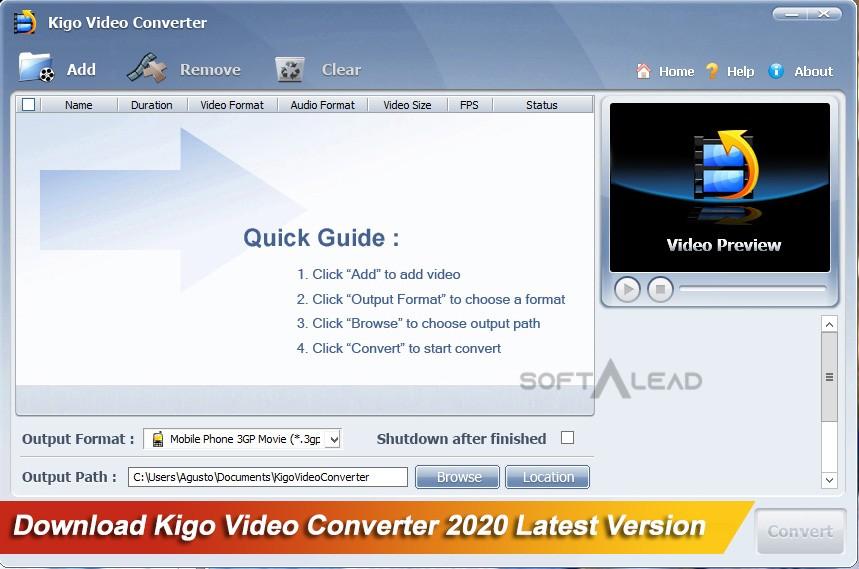 Download Kigo Video Converter 2021 Latest Version