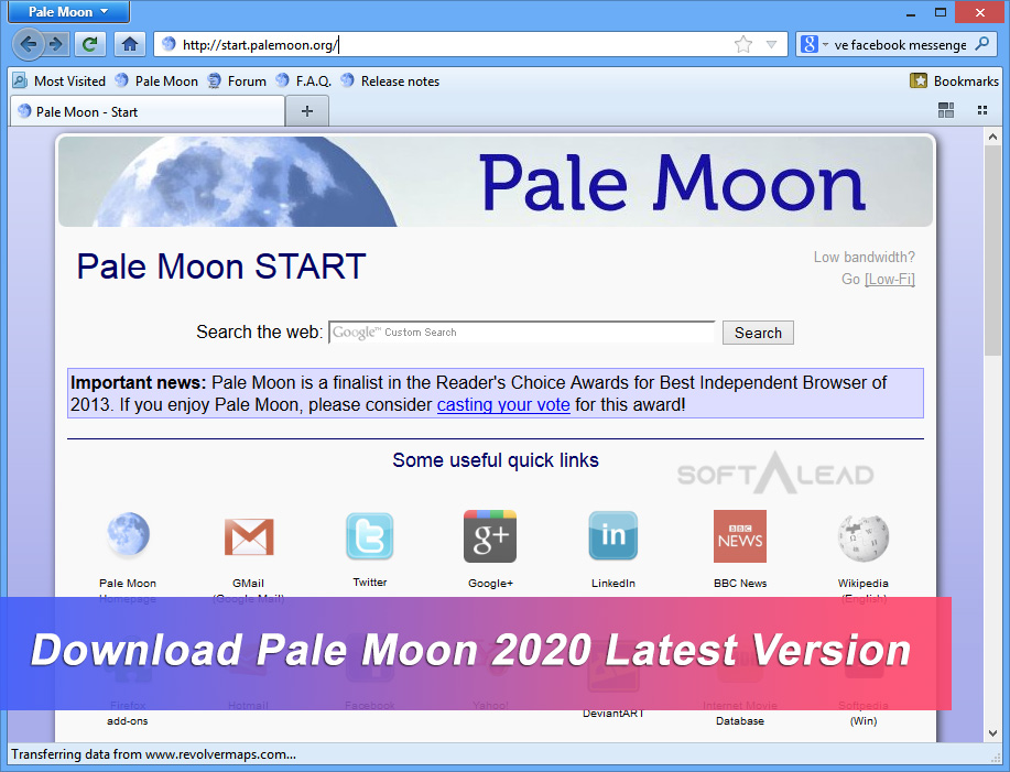 Download Pale Moon 2020 Latest Version