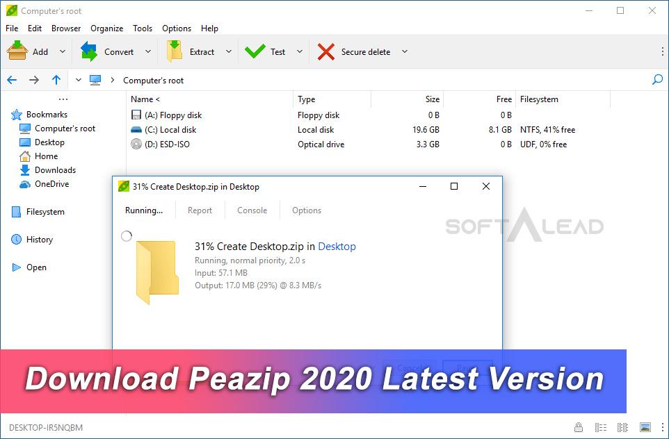 Download Peazip 2020 Latest Version