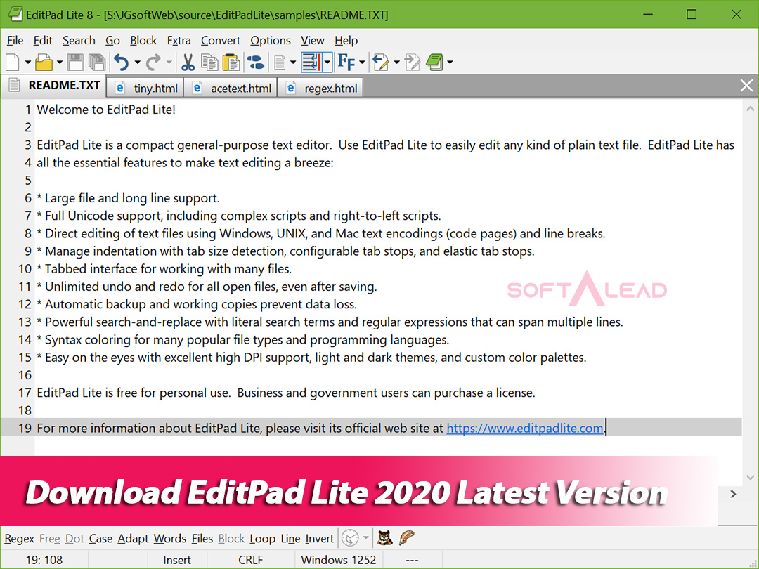Download EditPad Lite 2020 Latest Version
