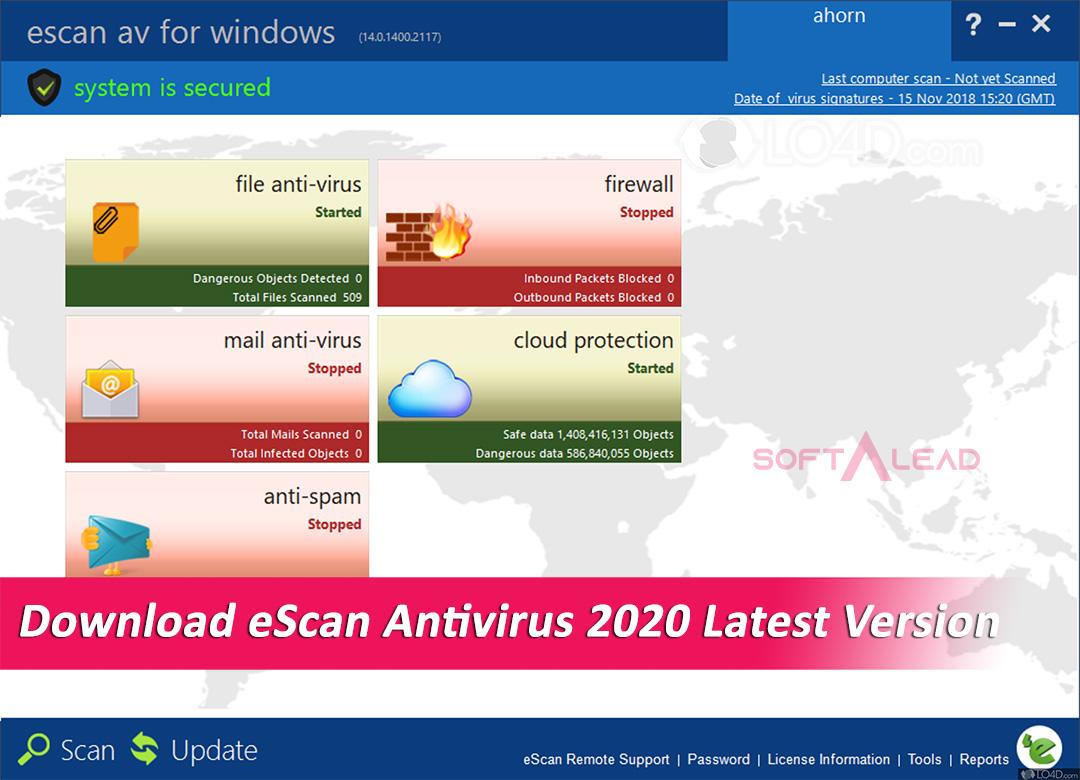 Download eScan Antivirus 2020 Latest Version