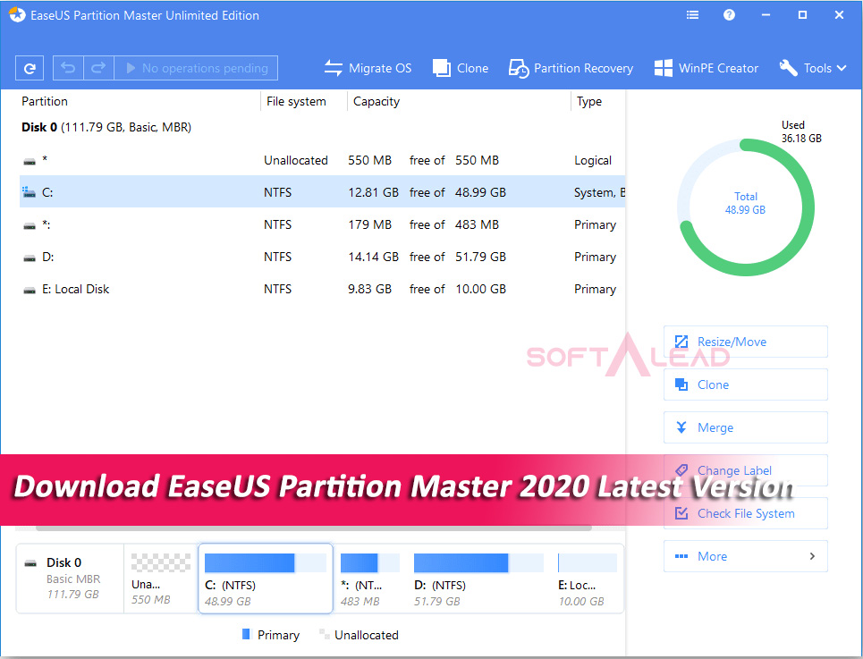 Download EaseUS Partition Master 2020 Latest Version