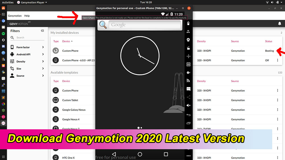 Download genymotion latest version
